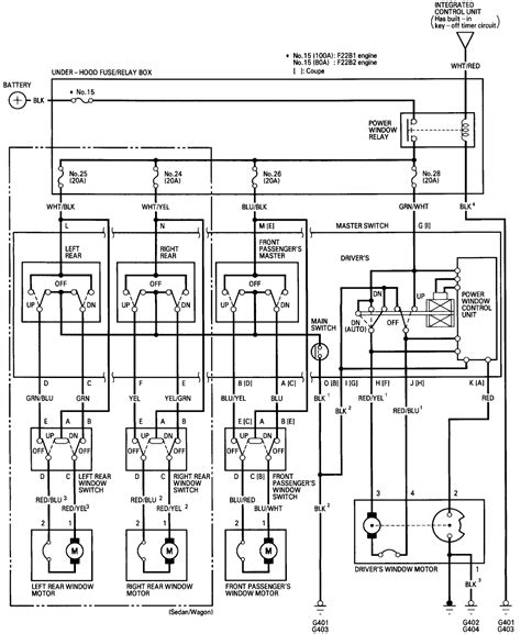 simple power window wiring diagram k
