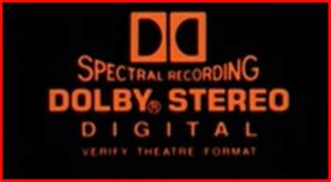 dolby stereo digital spectral recording verify theatre for