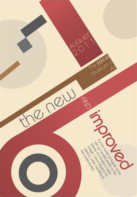 layout design typography 04 poster design geometric shaped typography layout