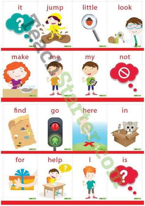 Sight Word Cards With Pictures