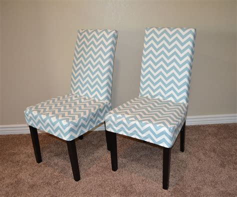 Make Happy Dining Chair Slipcovers by Parson Chair Slip Cover With Chevron Fabric So Easy