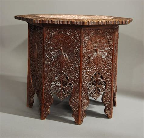Indian Table L Indian Hardwood Table Of Octagonal Shape In Tables