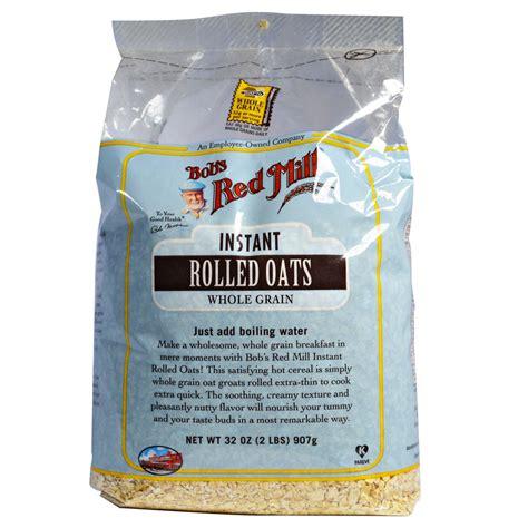 whole grain rolled oats bob s mill instant rolled oats whole grain 32 oz