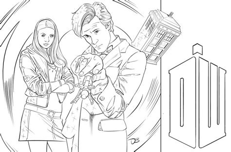 Davebryantgo Doctor Who Coloring Page