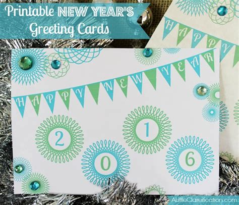 new year free printable cards printable new years cards for 2016 a claireification