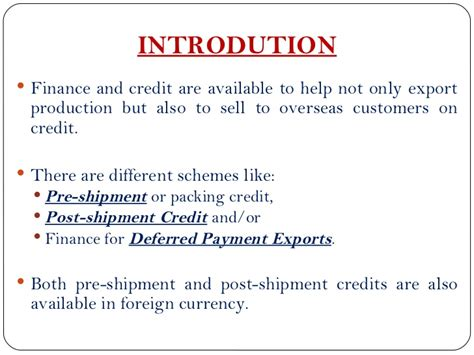 Export Management Notes For Mba by Of Exim Bank In Export Financing
