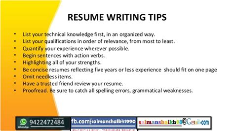 Resume Writing Tips 14 Resume Writing
