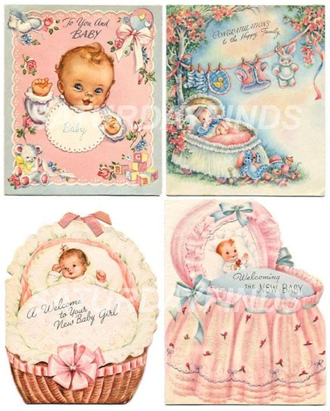 Vintage Baby 1 new baby no 10 of 12 vintage greeting cards by