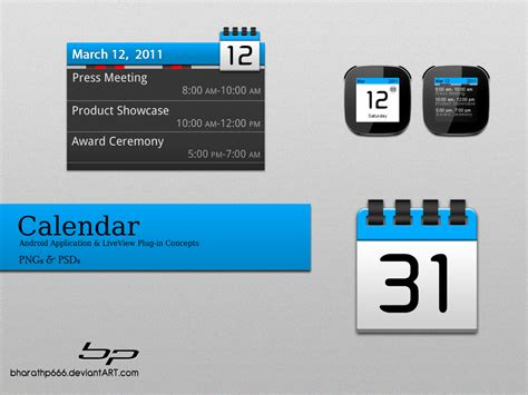 psd templates for android app android calendar app concept by bharathp666 on deviantart
