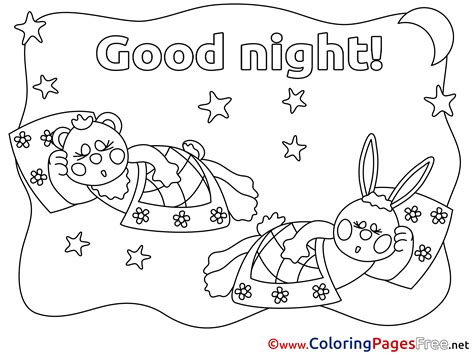 good sheets 80 good night kids coloring pages good night harley