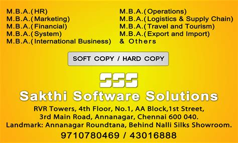 Mba Operations In Chennai by Mba Projects In Chennai