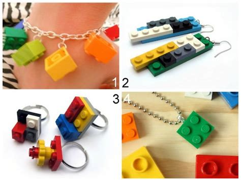 lego jewelry tutorial 4 creative crafts with lego blocks how to instructions