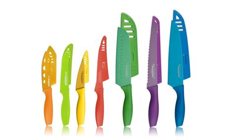 colored knife set tomodachi 14 colored cutlery set groupon