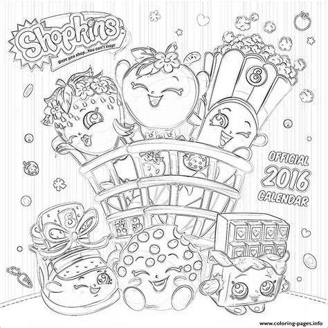Shopkins Official 2016 Coloring Pages Printable Coloring Pages 2016