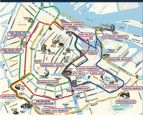 Amsterdam Museums Map Schedule