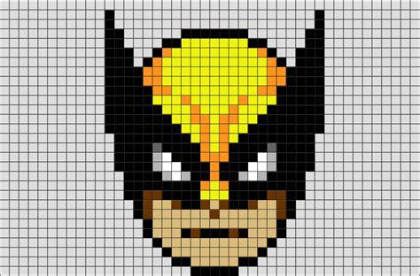 wolverine face pixel art brik