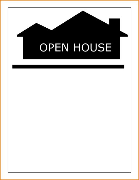 open house template open house template authorization letter pdf