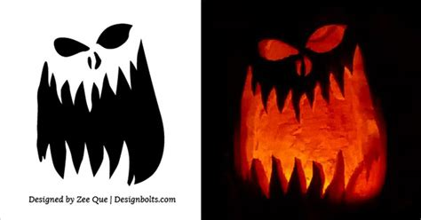 10 free printable scary halloween pumpkin carving patterns