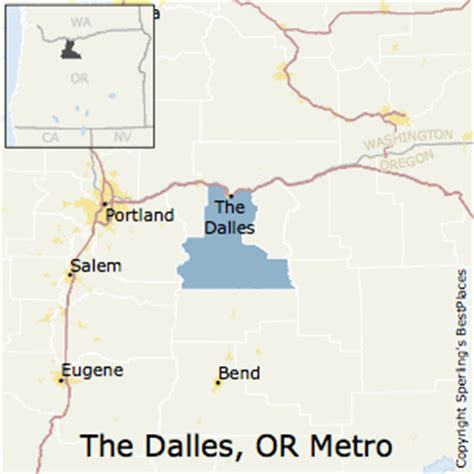 the dalles oregon map best places to live in the dalles metro area oregon