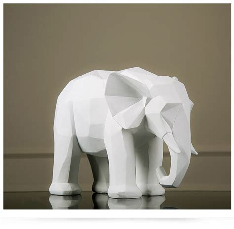 white elephant origami popular abstract animal sculptures buy cheap abstract