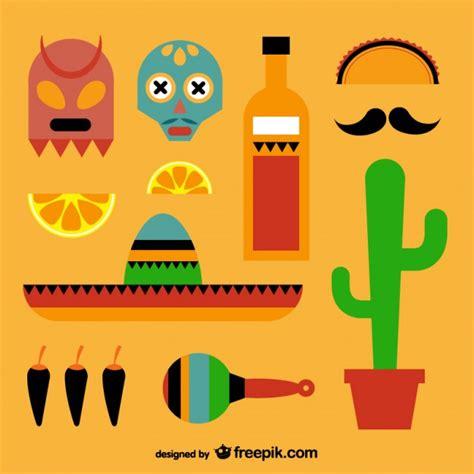 imagenes de vectores ligados elementos mexicanos embalar baixar vetores gr 225 tis