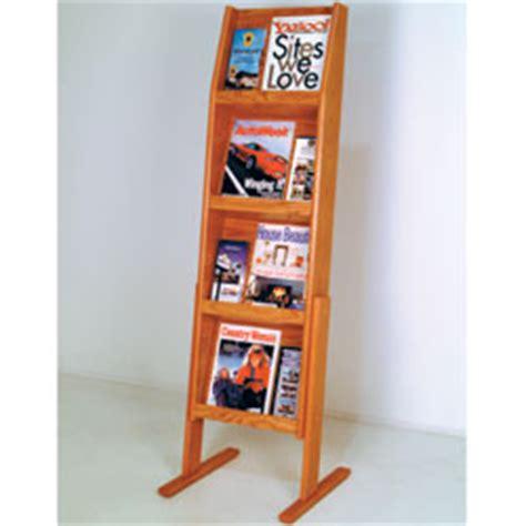 magazine holders medium oak 4 shelves