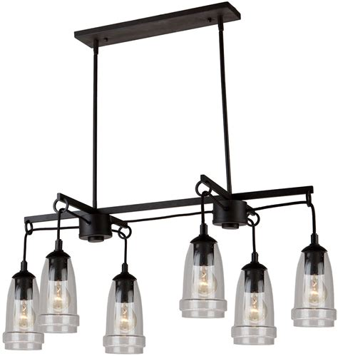 shop dainolite lighting stem 35 in w 3 light oil brushed kitchen island lighting fixtures
