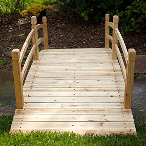 wooden garden bridge coral coast harrison 8 ft wood garden bridge garden bridges