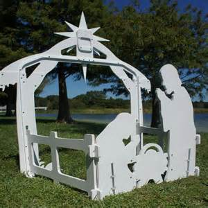 large outdoor nativity set