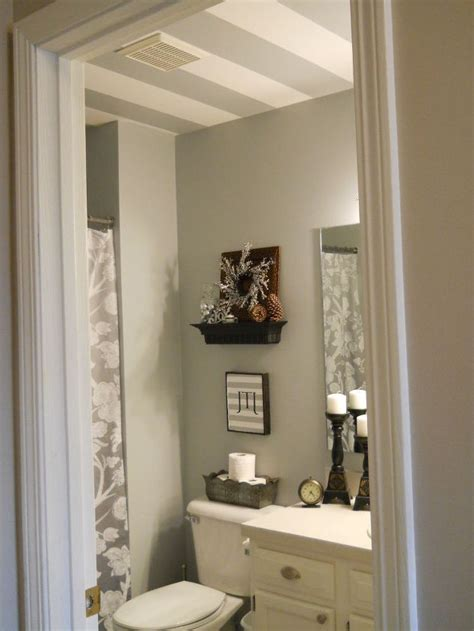 Bathroom Redo Ideas striped bathroom ceiling hometalk