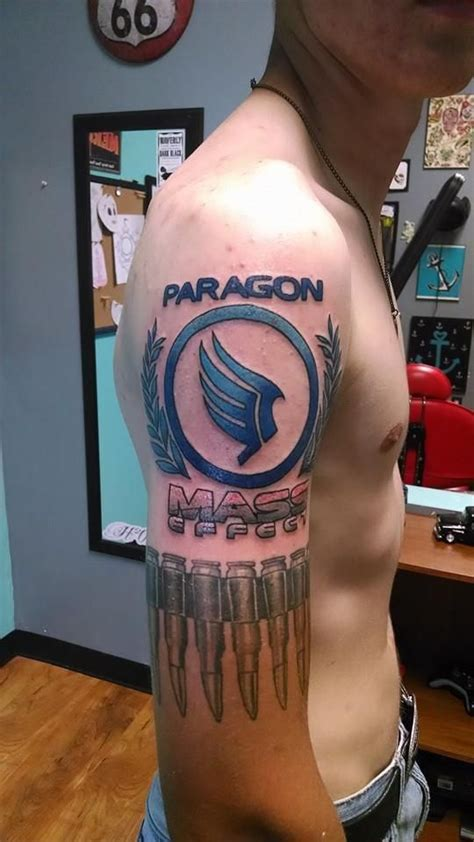 paragon tattoo my mass effect paragon mass effect