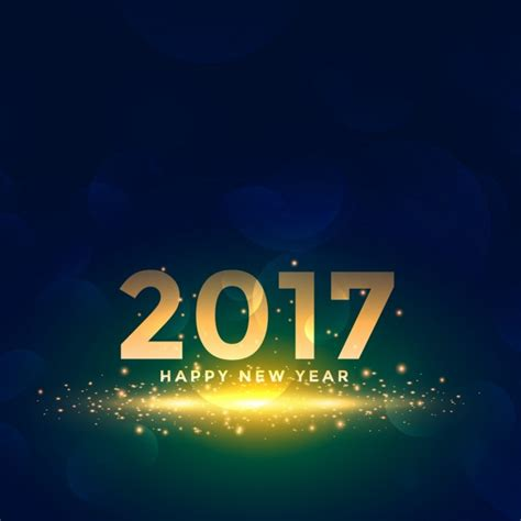 beautiful new year 2017 background with sparkles effect