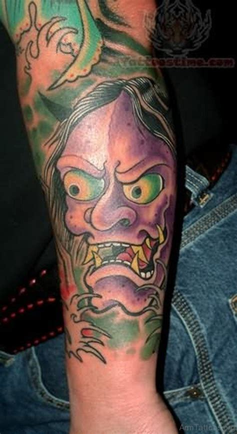 hannya mask tattoo forearm 70 adorable mask tattoos on arm