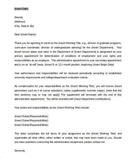 appointment letter for in india sle appointment letter format india cover letter