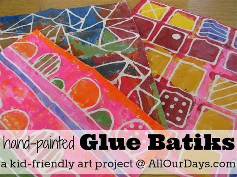 batik design using glue elmer s glue gel batik fun easy kids craft project