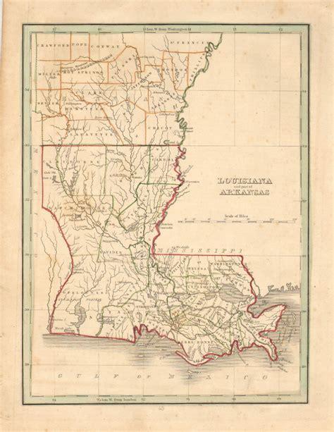 louisiana arkansas map antique maps of louisiana