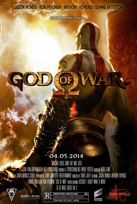 film de god of war god of war movie poster by psykotronik on deviantart