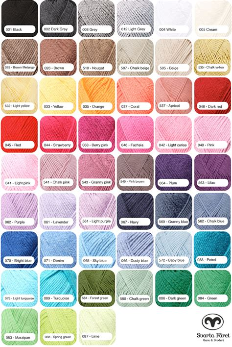 i this yarn color chart my valley yarn shop