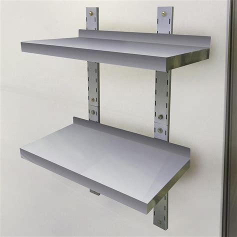 home depot wall shelving sportsman 2 shelf 24 in stainless steel wall mounted shelf 802719 the home depot