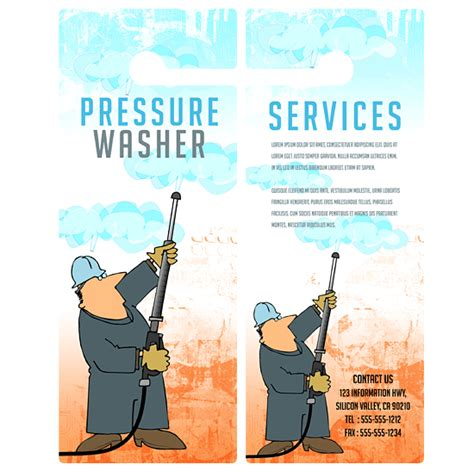 Boxedart Member Downloads Door Hanger Templates Services Pressure Washing B 4 X 10 5 Power Washing Flyer Templates Free