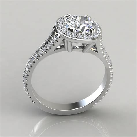 split shank cushion cut halo engagement ring puregemsjewels
