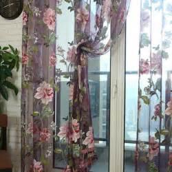 fleur brod 233 e design de luxe rideaux tissu rideaux