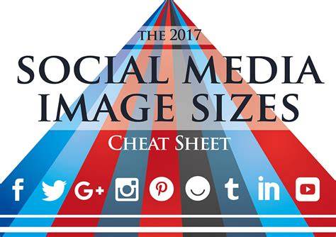 social media images 2017 social media image sizes sheet