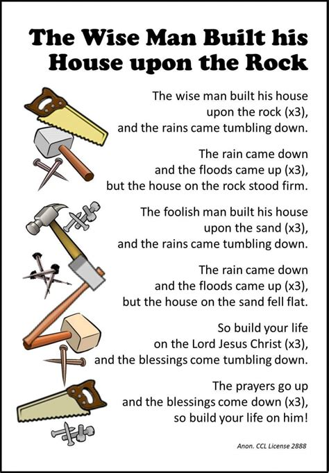 the wise man built his house upon the rock music free coloring pages of wise man built his house