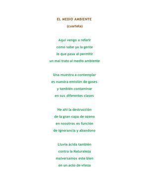 poesias cortas del medio ambiente calam 233 o el medio ambiente poema reflexivo