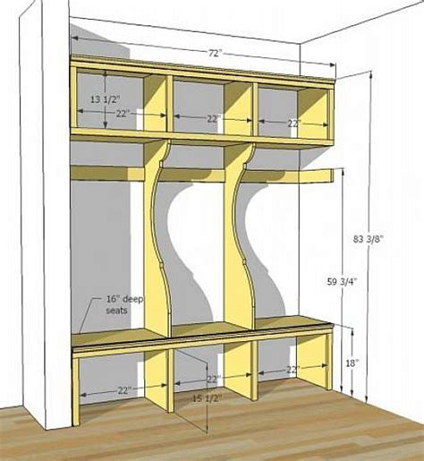Mudroom Locker Plans Diy | diy mudroom lockers plans organizing pinterest