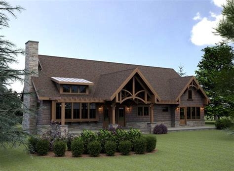 mountain lodge style house plans hillside cabin or