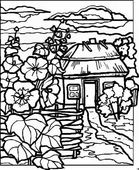 coloring pages of landscapes free coloring pages of farm scenery