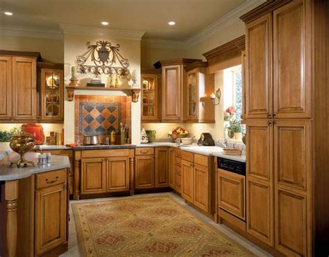 American Woodmark Kitchen Cabinets by American Woodmark Richmond Maple Mocha Glaze American