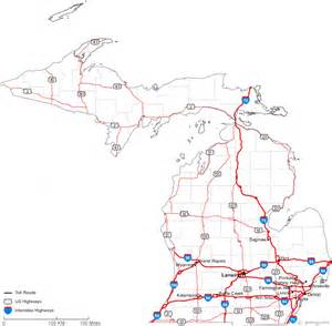 counties map with highways michigan road map michigan map